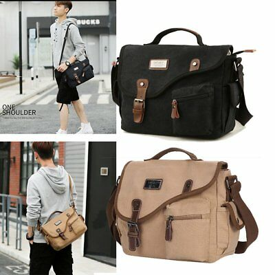 Men Canvas Messenger Shoulder Bag Cross Body Satchel Schoolbag Briefcase Handbag