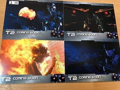 Terminator T2 Rare 4 Card Promo Preview Set PS1 - PS4 Ltd 200 Unstoppable Cards