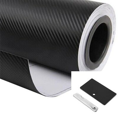 3D Carbon Fiber Sticker Car Auto Wrap Sheet Roll Film Decal Paper Waterproof UK