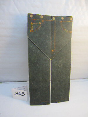 VINTAGE fold out ADVERTISING 1915 LEVIS STRAUSS & CO JEANS origami  LOOK!!