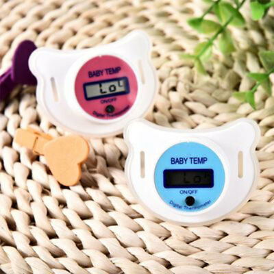 Digital Thermometer Monitors Mouth Nipple Pacifier LCD Celsius Kids Healt TMX