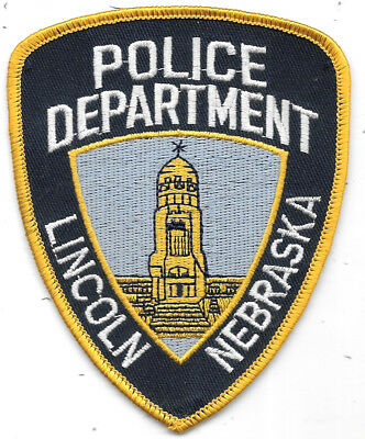 "Police Patch: Police Department Lincoln Nebraska Patch Measures 3 1/2"" X 4 1/2"