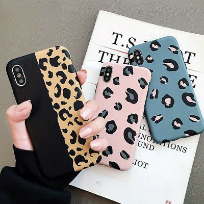 For iPhone 8 7 Plus X XR XS Max Case Fashion Leopard Print Soft Silicone Cover