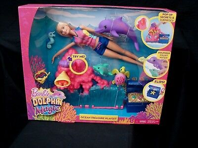 Barbie Dolphin Magic Ocean Treasure Playset New Mattel 2016