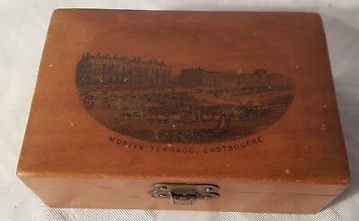 Small Mauchline Ware Box - Mostyn Terrace, Eastbourne