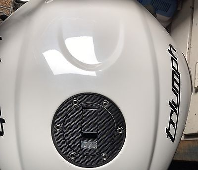 Triumph Speed Triple Carbon look Fuel cap cover pad sticker