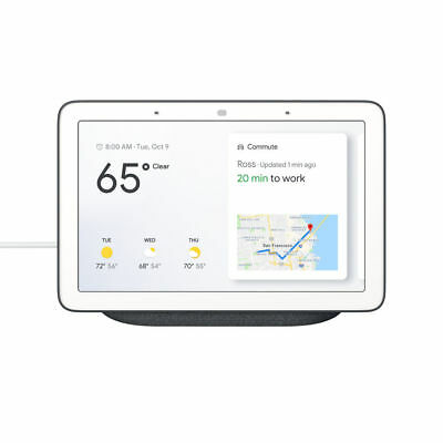 NEW SEALED Google Home Hub with Google Assistant GA00515-US - Charcoal 6290306