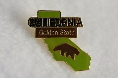 California State colorful lapel pin (Golden State) Nice NEW!!!