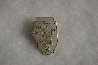Illinois State colorful lapel pin Nice NEW!!!