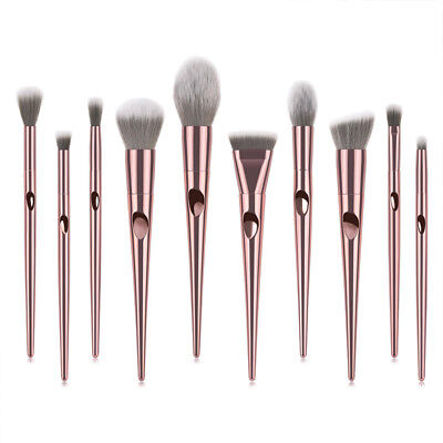 Pro 10pcs Makeup Brushes Set Foundation Blending Powder Blush Contour Brush Tool