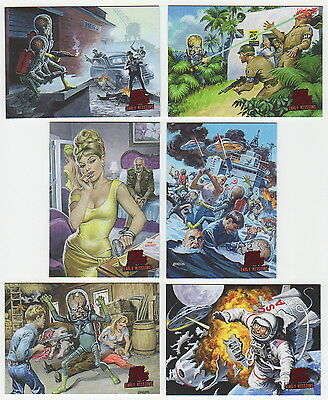 2013 Topps MARS ATTACKS INVASION 6 Card Early Encounters / Missions Chase Set
