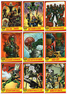TOPPS KICKSTARTER MARS ATTACKS OCCUPATION LE Judge Dredd 18 Card Set + Wrapper +