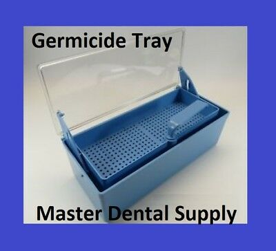 Germicide Tray LARGE Cold Sterilization Dental Tatto Nail Instruments BLUE