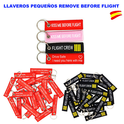 Llavero Pequeño Tamaño ( Kiss Me/ Flight Crew/ Drive Safe) Remove Before Flight