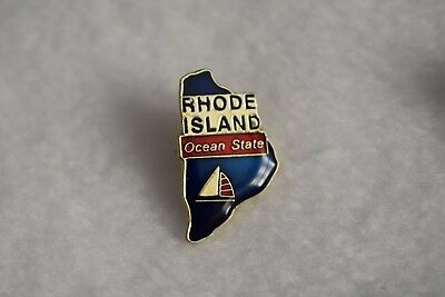 Rhode Island State colorful lapel pin Nice NEW!!!