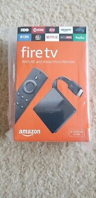 NEW Amazon - Fire TV with 4K Ultra HD and Alexa Voice Remote - Black