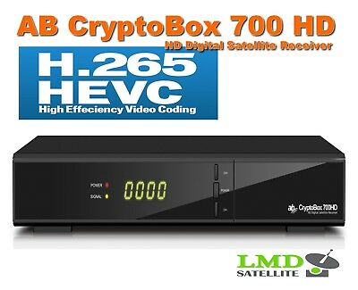 AB CryptoBox 700 HD Satellite receiver Full HD H.265 HEVC 1080p IPTV FastScan