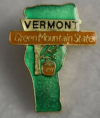 Vermont State colorful lapel pin Nice NEW!!!