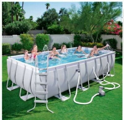 16ft x 8ft Bestway Rectangular Swimming Pool 4.5 deep delivery ladder pool12FT