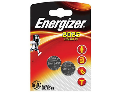 Energizer 3V Lithium CR2025 DL2025 Coin Cell Batteries Battery 2 Pack
