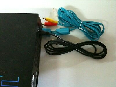 NEW Blue AV Audio Video Cable & AC Power Adapter Cord SET for Playstation 2 PS2