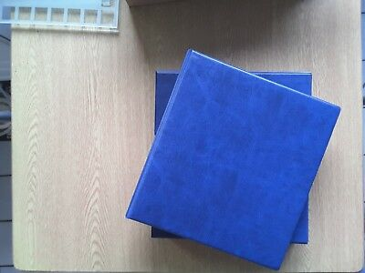 Kestrel First Day cover album with slipcase & 20 sleeves  (Blue)