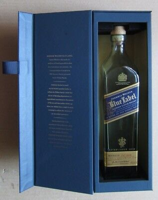 Johnny Walker Blue Label Numbered 750 mm EMPTY Bottle With Medallion & Gift Box
