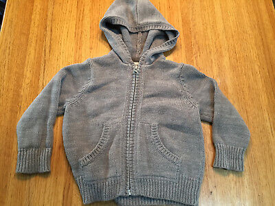 Old Navy Boys/girls Zip Front Hooded Sweater   Size 18-24 Months