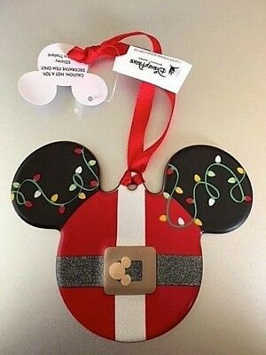 Walt Disney World Mickey Santa Suit Icon Disc Christmas Ornament New with Tags