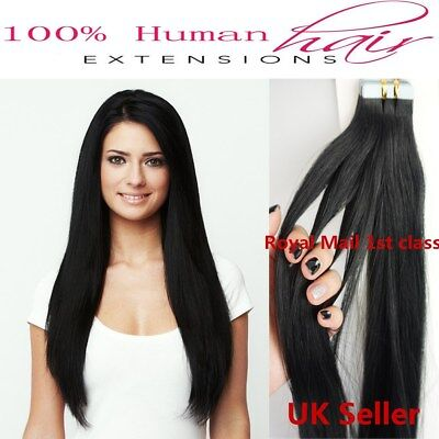 "Best Quality 14''-24"" Tape-In 8A* Premium Russian Remy Human Hair Extensions 1st"