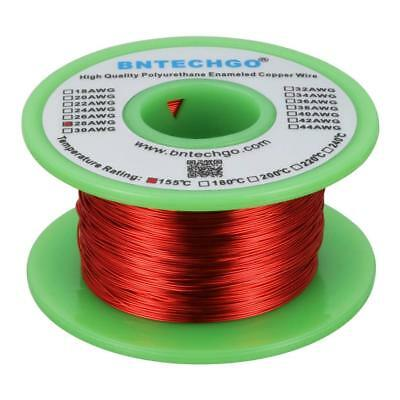 BNTECHGO 28 AWG Magnet Wire - Enameled Copper Wire - Enameled Magnet Winding Wi