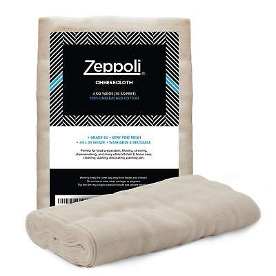 Reusable Cheesecloth 100/% Unbleached 50 Cotton Grade Mesh Filter Strain Duster