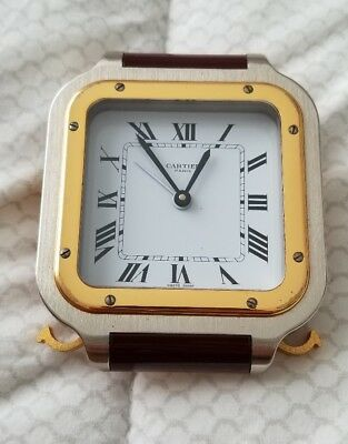 Genuine Vintage CARTIER PARIS Santos Quartz Alarm Clock. SWISS
