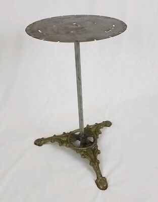 Vintage pedestal table iron plant stand industrial Gothic steampunk furniture