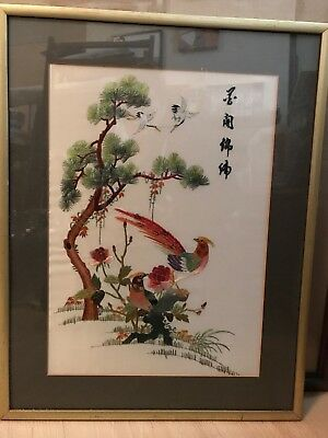 Oriental Embroidered Wall Art