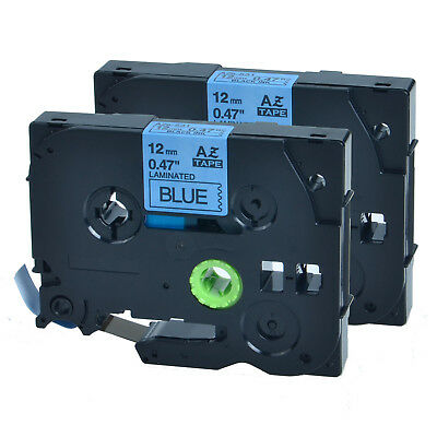 """2 PK 0.47"""" TZ 531 TZe 531 Black on Blue Tape for Brother P-Touch PT1910 Label"""