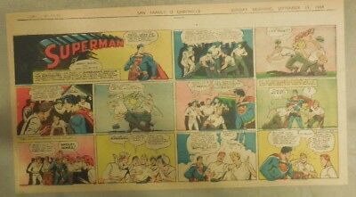 Superman Sunday Page #255 by Siegel & Shuster from 9/17/1944 1/3 Page