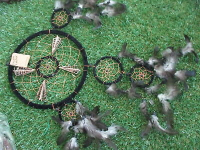 Dream Catcher - 8.5 inch,  Black - Suede Covered, with Shells