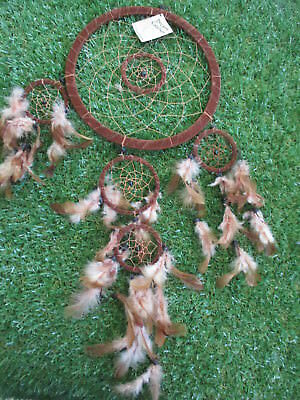 Dream Catcher - 8.5 inch,  Brown - Suede Covered