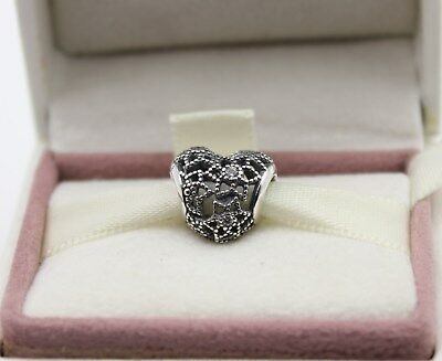 54eb7c67e AUTHENTIC PANDORA BLOOMING Heart Charm, Clear CZ, 796264CZ #1032 ...