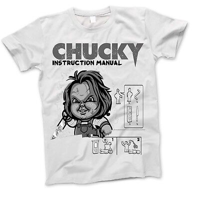 Childs Play Chucky Manual Sci Fi Movie Film Horror Poster Vintage Retro T Shirt