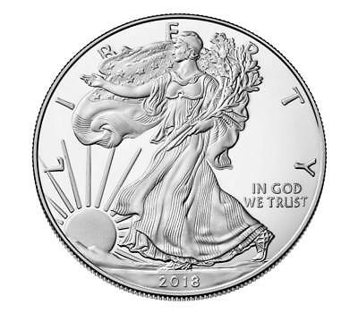 Brand new 1 oz silver bullion coin american eagle 2018 ounce uncirculated 1 $