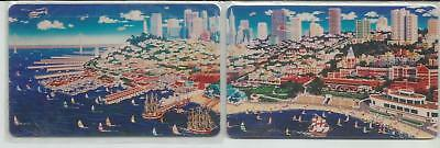 SAN FRANCISCO  2 Card Puzzle - Chen Phone Cards - 1995