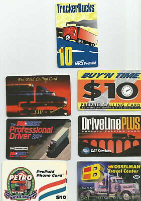 Big Rigs -Set of 7 Truck-Themed Phone Cards