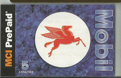 Mobile  Flying Horse  MCI Phone Card  5 Min 1996