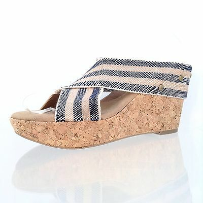 02a5225860 Women's Abound Lotty Wedge Sandal Tan/ Blue Color Shoes Size 8 M New!
