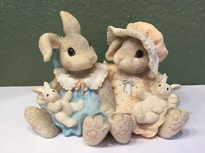 """My Blushing Bunnies """"I'm Blessed To Have A Friend Like You"""" By Enesco 156957"""