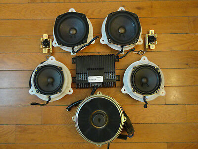 Bose 8-Piece Car Sound System *Powered* Speakers Nissan Infiniti Audi Mazda GMC