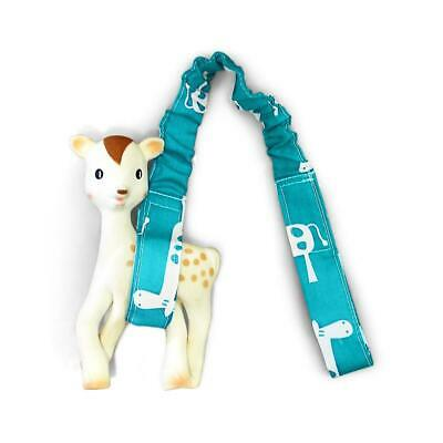 Toy Strap - Teal Giraffe