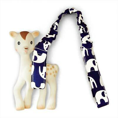 Toy Strap - Navy Elephants